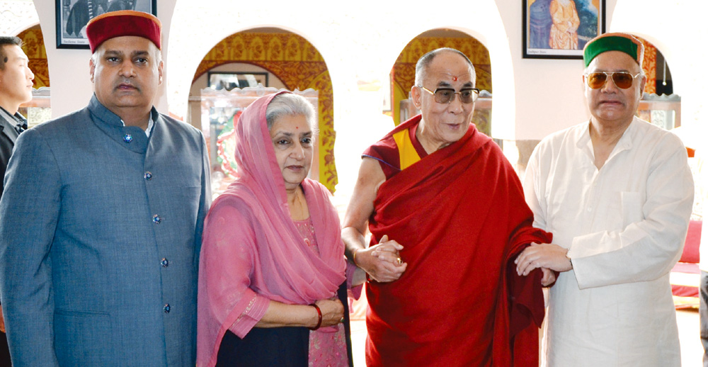 Royal Kangra Family with H. H. Dalai Lama